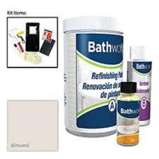 bathworks 20 oz diy bathtub and tile refinishing kit almond bwk 04 the home depot