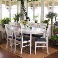 Esstisch Mit Stühlen Im Skandinavischen Design Weiß Grau 7 Teilig