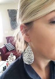 diy faux leather earrings hall around texas