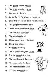 250 free phonics worksheets covering all 44 sounds, reading, spelling, sight words and sentences! Phonics Oo Esl Worksheet By Alfdepalm