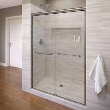 delta shower doors new basco infinity 47 in x 70 in semi frameless sliding shower door