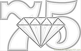 Diamond Wedding Coloring Page Coloring Page Free Numbers Coloring