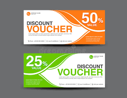 coupon design discount voucher template coupon design ticket card design stock