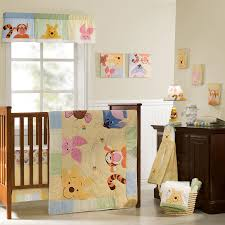 Winnie The Pooh Orange Friends Disney Baby Nursery Wooden Furniture  Minimalist Cream Colored