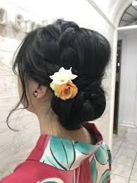 着物に似合う髪型特集instagramで見つけたヘアアレンジ 着物