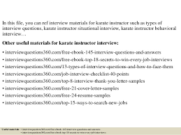 2 in this file you can ref interview materials for karate instructor martial arts instructor jobs