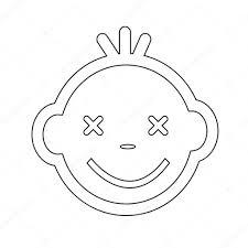 かわいい赤ちゃんの顔感情アイコン イラスト シンボル デザイン