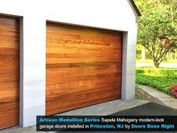 cedar garage door artisan medallion series mahogany modern look wood garage doors installed in solid wood cedar garage door