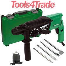 hitachi 50hk6t74u. hitachi dh24px 730w 3 mode sds plus hammer drill 240v with accessories 50hk6t74u