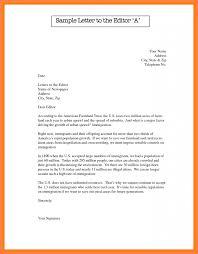Formal Letter Latest Format 12 Formal Letter To Editor Format Leterformat
