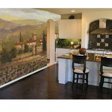 Kitchen Wall Mural Kitchen Gorgeous Kitchen Decoration With Wine Garden Kitchen Wall