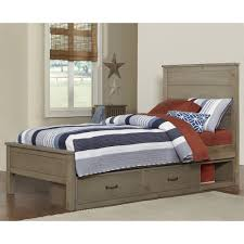 Driftwood Bedroom Furniture Highlands Alex Wood Storage Bed In Driftwood By Ne Kids Humble Abode