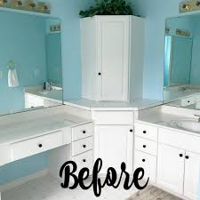 master bath vanities before painting the theril cabinets
