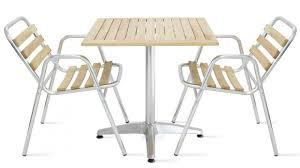 Table de terrasse carrée + 2 chaises | Oviala