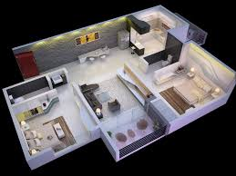 Small One Bedroom Apartment Floor Plans 25 More 2 Bedroom 3d Floor Plans