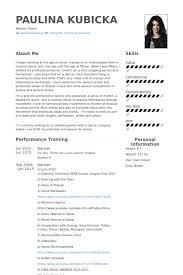 Dance Resume Template Dancer Resume Samples Visualcv Resume Samples  Database Template