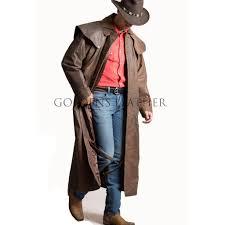 unique design men leather duster