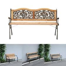 seater wooden outdoor garden bench