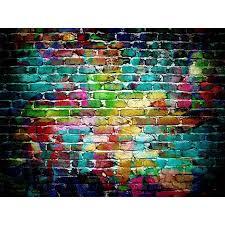 graffiti colorful brick wallpaper