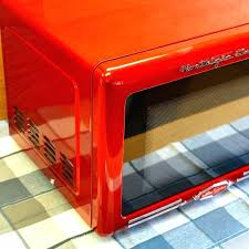 red retro microwave nostalgia retro refrigerator red red nostalgia electrics retro series countertop microwave oven rmo770red