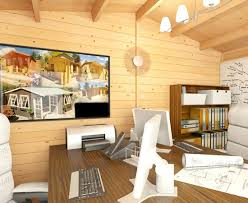 home office cabin. Image Of A Kent Cabin Craft Centre Log Being Used As Home Office