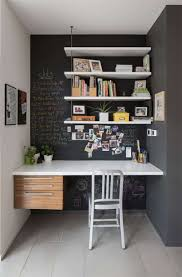 office chalkboard. Small Home Office With Chalkboard Walls And Shelves : Ways To Maximize Your