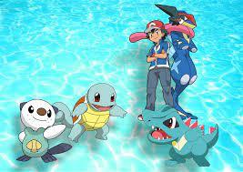 Pokémon Anime VN - Bửu bối thần kì - Trưa nóng cho một tí nước mát nào <3  Các Water Starter ( Pokemon khởi đầu hệ nước ) của Satoshi: Squirtle (ゼニガメ