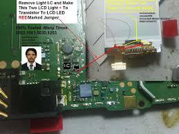 Nokia 108 Light Solution Without Transistor Nokia 1661 Lcd Light Solution Without Light Ic Jumpers Ways