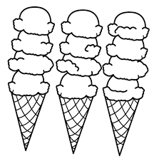 Small Picture Big Ice Cream Cones Coloring Page Cookie Pinterest Big ice