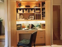 hidden office desk. Hidden Home Office In Living Room Closet With Built-In Desk