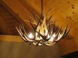 image of real antler chandelier