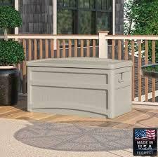 garden storage box outdoor patio all weather yard deck garage resin design from garden storage bench