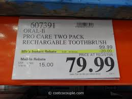 b professional care advantage rechargeable toothbrush costco 1