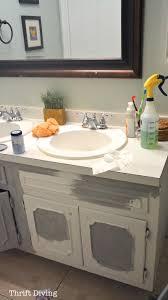 Painted Bathroom Countertops Before After My Pretty Painted Bathroom Vanity