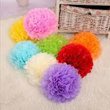 Tissue Paper Pom Poms Flower Balls Details About 10 X Tissue Paper Pom Poms Flower Balls Wedding Party Home Decoration Pompoms