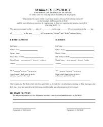 Love Contract Template Marriage Sample For Wedding Relationship ...