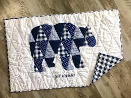 custom baby boy quilt woodland nursery
