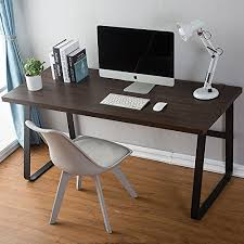 office writing table. DecoMate Vintage Computer Desk , Wood And Metal Writing PC Laptop Home Office Study Table, Espresso 55 Inch Table