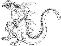 Tô màu Quái Vật Godzilla Khổng Lồ - Trang Tô Màu Cho Bé