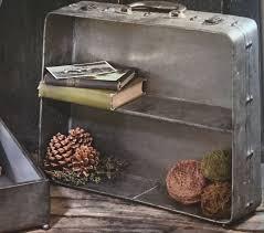 display shelves metal suitcase design