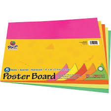 Ucreate Poster Board Package Art Home Project Office Project Sign Chart Poster 11 X 14 5 Pack Assorted Orange Red Yellow Green