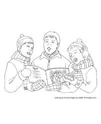 Christmas Scenes Coloring Pages Youth Christmas Caroling