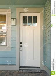 white front door. Closed White Door Of A Home Front 2
