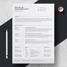 Best Modern Clean Resume Design Clean Resume Template By Resumeinventor On Creativemarket