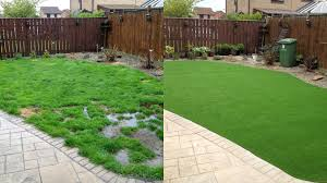 artificial turf yard. Exellent Yard Artificialgrassbeforeandafter With Artificial Turf Yard