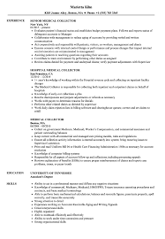 Collector Resume Examples Medical Collector Resume Samples Velvet Jobs 11
