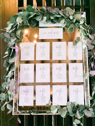 Rehearsal Dinner Seating Chart Ideas Picture Of Mirror Seating Chart With Printed Paper And