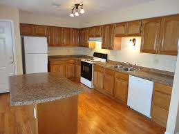Kitchens With White Appliances And Oak Cabinets Finished Kitchen Using Our Rta Center Simple Ideas