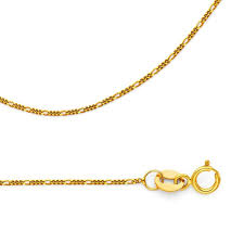 Light Figaro Chain Details About Figaro Chain Solid 14k Yellow Gold Necklace 3 1 Link Thin Light 0 9 Mm