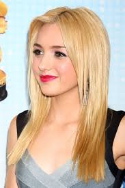peyton list straight golden blonde angled flat ironed hairstyle steal her style